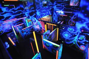 Laser tag is available at Play Atlantis. (Photo by Dave Chapman)